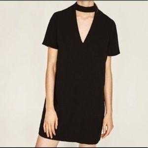 Zara black choker dress in xxl